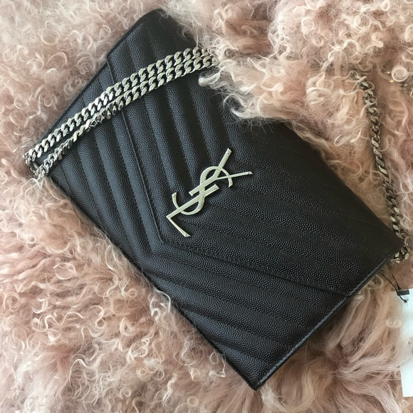eae56447b160 NWT YSL Monogram wallet on chain authentic. Boutique. Yves Saint Laurent